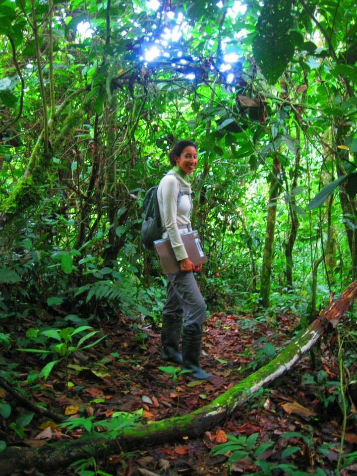 Caitlin in Peruvian rainforest on her luxury family world trip, how to travel the world with your family