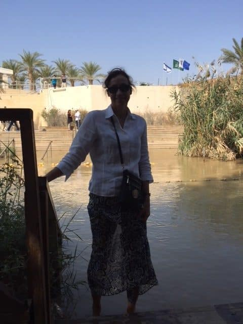luxury travel advisor Theresa Jackson in the Holy Land, Jordan