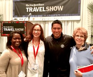 Theresa Jackson, luxury travel advisor, with other Ambassador of Change winners
