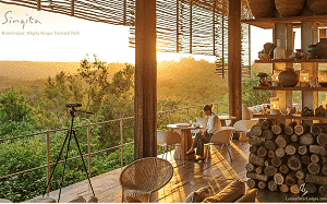 AtSingita Grumeti, a 350,000-acre reserve in Tanzania, theEnvironmental Education Centre that educates the community's next generation of leaders on the importance of a balanced, sustainable ecosystem and from it a viable economic option through controlled and ethical tourism. Courtesy of Singita