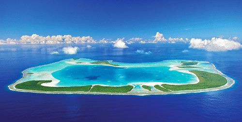 French Polynesia, The Brando, a luxury lodge on an island