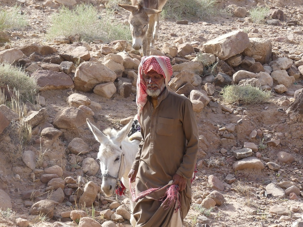 bedouin shepherd in the desert, visited by luxury travel advisor Theresa Jackson