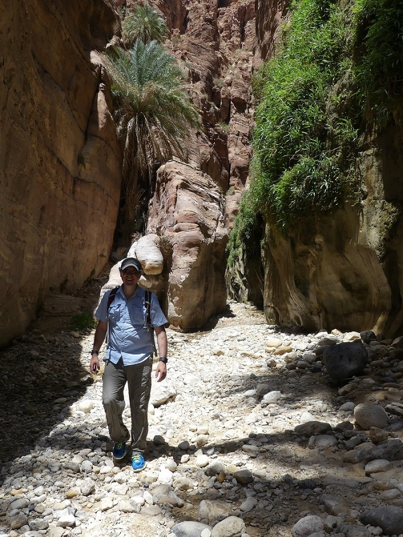 member of luxury travel advisor Theresa Jackson's hiking group on their jordan adventure trip