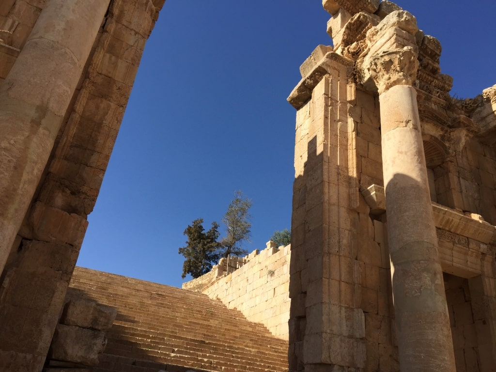 jordan's historical treasures, visited on luxury travel advisor Theresa Jackson's sustainable travel trip