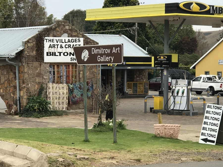 picture of the interior of the small quaint town of Dullstrom in South Africa