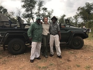 luxury travel advisor Theresa Jackson in the Kruger National Park, South Africa