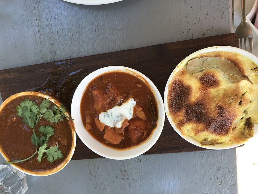 South African Food dishes and dipping sauces