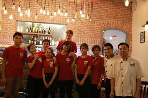 students at the Hanoi Food Culture restaurant, a social enterprise in Hanoi Vietnam