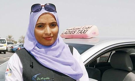 woman cab and taxi driver in Abu Dhabi, empowering women, travel to Abu Dhabi