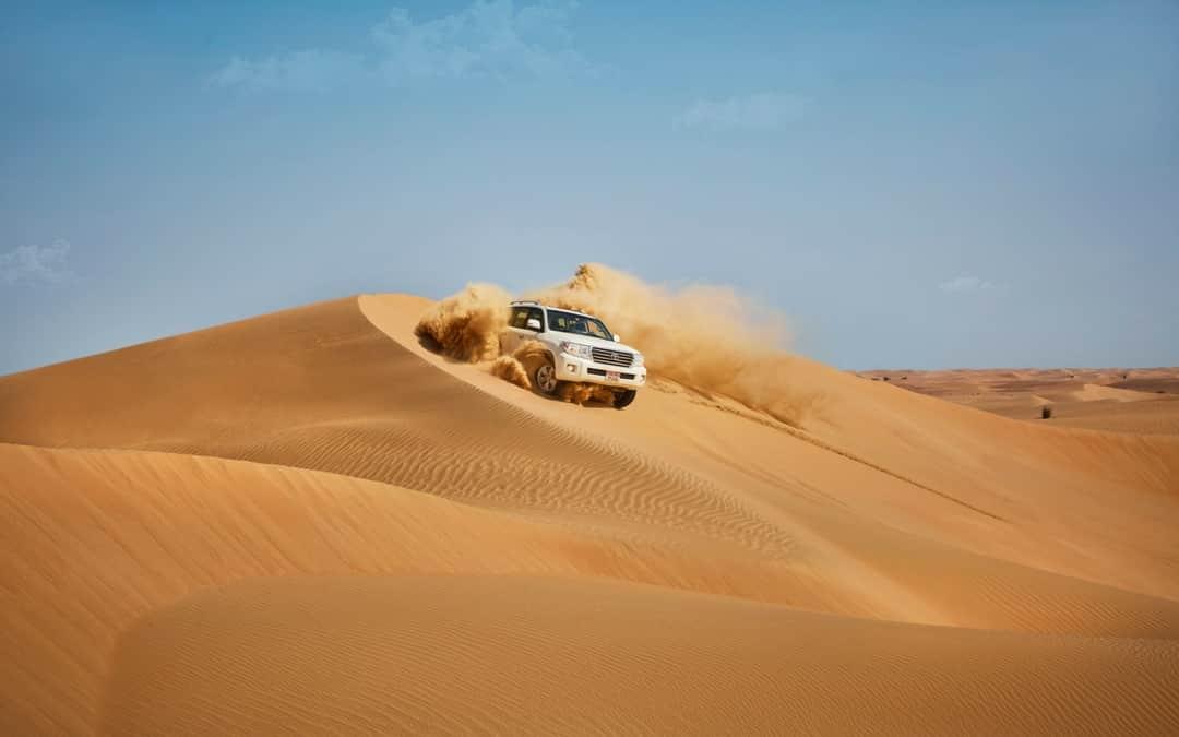 Abu Dhabi desert dune bashing, vacation in abu Dhabi