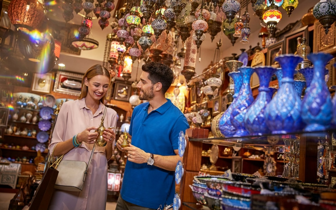woman shopping at WTC Euro, vacation in Abu Dhabi