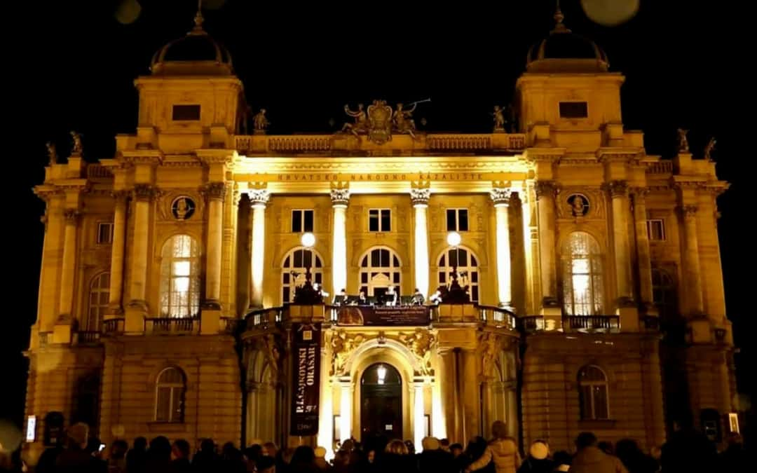 Zagreb, Croatia - Christmas concerts from the balcony