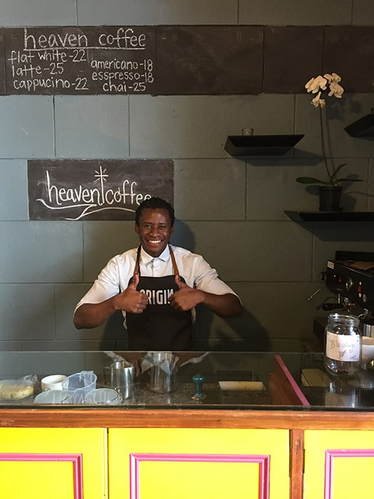 Heaven Coffee owner Mondli Mahamba (Photo: Joel Centano)