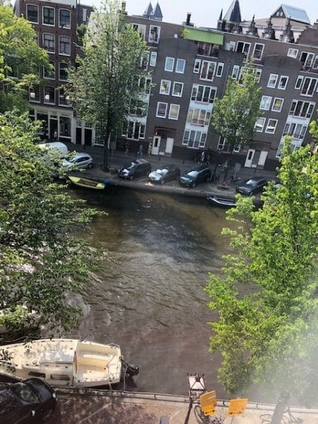 canal view from room in Pulitzer, Amsterdam private guided tour