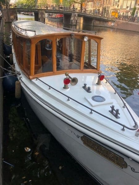 Pulitzer boat for canal touring, Amsterdam private guided tour