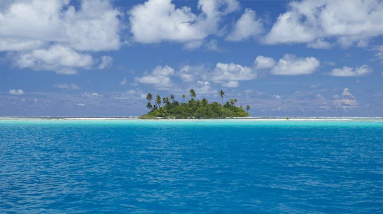 private island in the ocean, sun, sand, and beautiful ocean