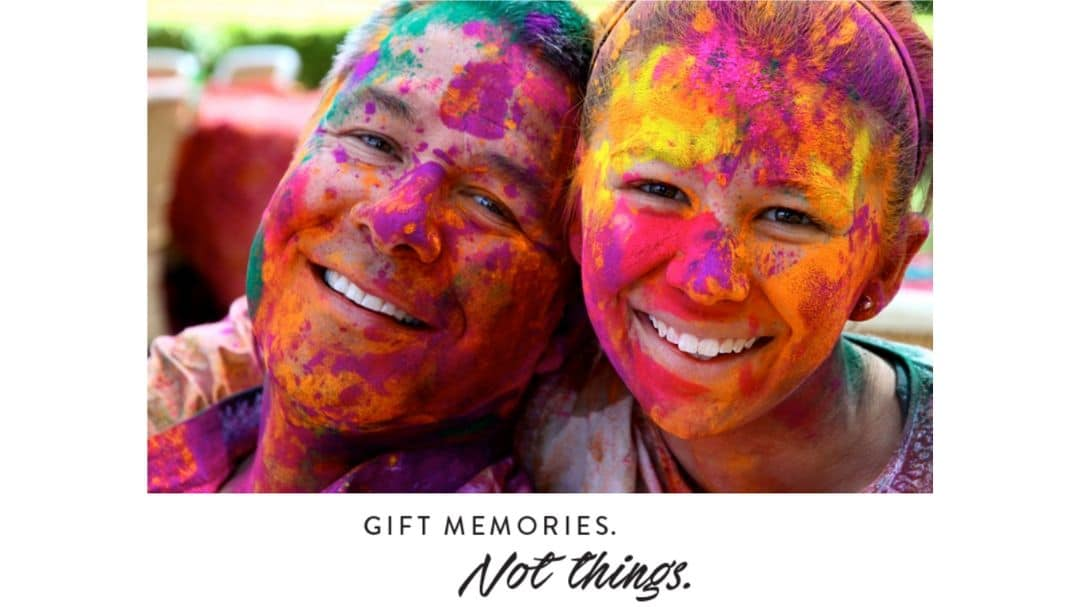 a father and a daughter with face painting, gift memories, not things. An ENLIGHTENED Journey Starts with Extraordinary Planning - How to Turn Your Bucket List into a Travel PLAN