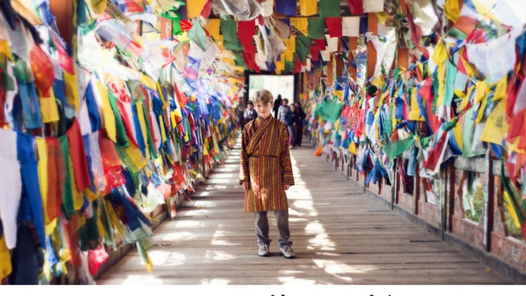 young boy on his worldwide travels, give them the world, slogan Wanderlist travel specialist Theresa Jackson