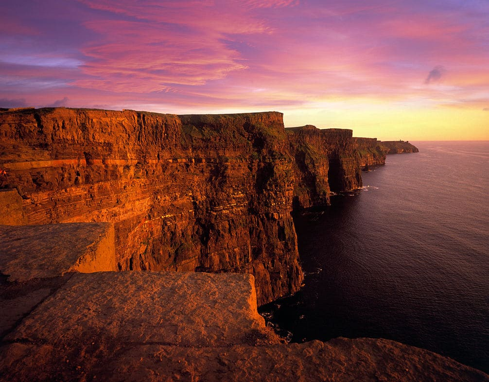 Cliff Coast - Cliffs of Moher, Sunset