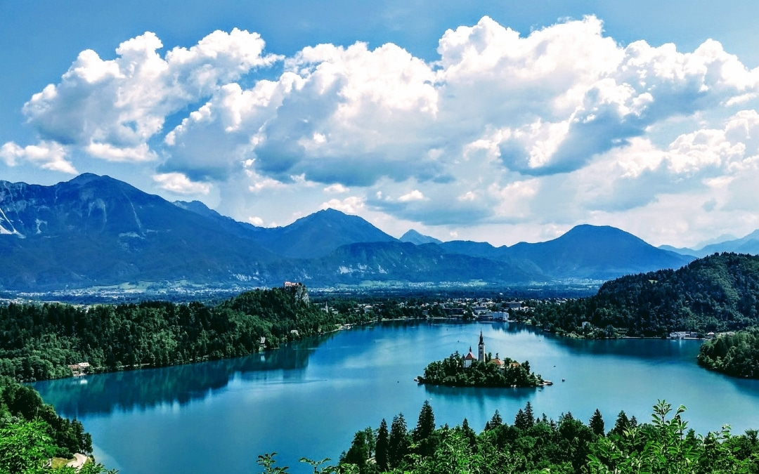 Bled, Slovenia, landscape photography of mountain ring, Slovenia Travel: A Dream Vacation in One Small Country