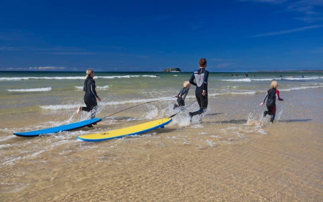 Surfing Pollan Bay