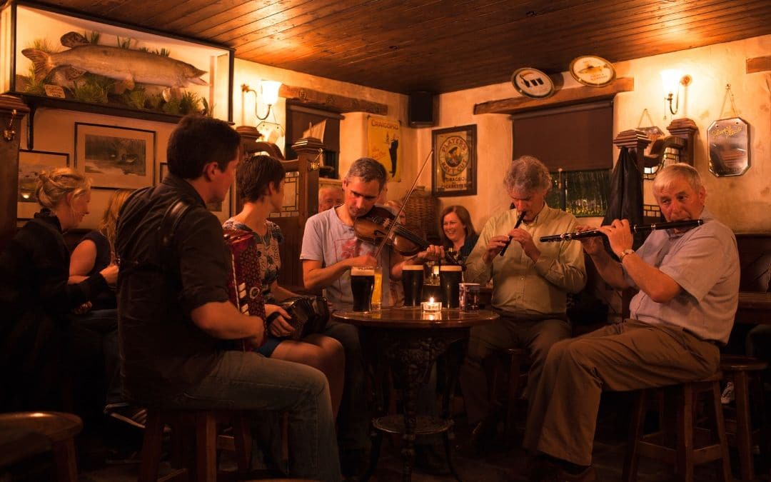 Trad Session in Pub in Donegal